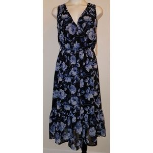 NEW A New Day Dress XS Navy Blue Floral Sleeveless